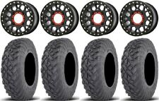 "Xs235 Grenade Beadlock 14"" Wheels 28"" Gripper Race Tires Yamaha Viking Wolverine"