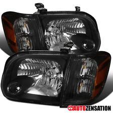 For Toyota 2005-2006 Tundra 2005-2007 Sequoia Black Headlights+Corner Lamps Pair