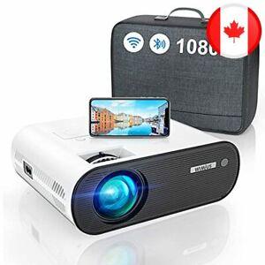 WiFi Bluetooth Projector, WiMiUS K5 Mini WiFi Projector Full HD Support 1080P, 7