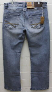 T.K Axel Men/'s Slim Boot cut Stretch Jeans Light Wash 38x32 Free Shipping
