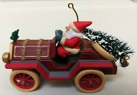 "Hallmark ""Santa's Roadster"" Collector's Series Christmas Tree Car Ornament"