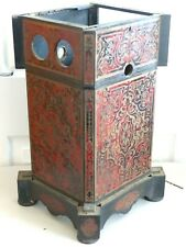 RARE ANTIQUE 19TH CENTURY BOULLE FAUX TORTOISESHELL STEROSCOPIC VIEWER