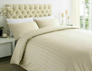 100% EGYPTIAN COTTON PURE 400 800 THREAD SATIN STRIPE FITTED SHEET HOTEL QUALITY