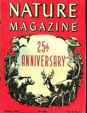 Nature Magazine January 1948 26th Anniversary EX ML On Back 011217jhe