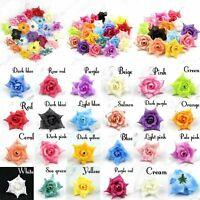 "10Pcs 2"" Artificial Silk Rose Flower Head For Wedding Home Decor DIY Fake flower"