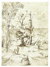 Postcard Hieronymus Bosch The Tree-Man (detail)  c1503-1506 MINT