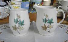 Vintage Syracuse China CAREFREE WOODBINE Sugar Bowl & Creamer ~