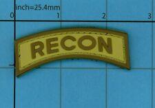 PVC RECON MORALE PATCH TAB UNIFORM SAND VEST B39 DESERT SHOULDER ARMY