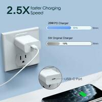 20W PD Charger Usb-C Power Adapter For Apple 12 Mobile Phones
