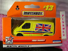 1999 Matchbox FORD TRANSIT #13✰Yellow;Red/blue/white✰ Union Jacks✰New in Box