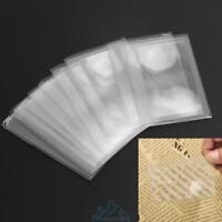 10Stk Karten Fresnellinse Lupe Blattlupe Lesehilfe Leselupe 3-fache Vergrößerung