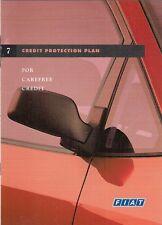 Fiat Credit Protection Plan 1997 UK Market Sales Brochure Punto Bravo Coupe