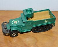 VINTAGE MATCHBOX BATTLE KINGS HALF TRACK APC 1974 DIECAST TOY MILITARY LESNEY
