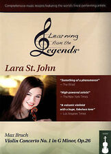 Learning from the Legends: Lara St. John - Max Bruch Violin Concerto No. 1 in...