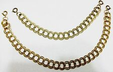 *RARE* Lot of 2 Versatile Avon Gold Tone Double Curb Necklace Extender Chains