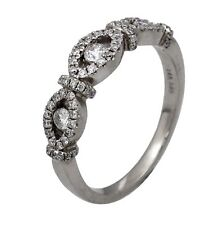 1.15ct Round Diamond Yesterday, Today & Tomorrow 3-Stone Ring in 14K White Gold
