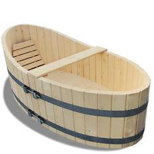 Baignoire en bois ou l'extérieur 178x87cm robinet de vidange