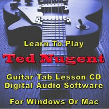TED NUGENT Guitar Tab Lesson CD Software - 12 Songs