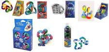 6 TANGLE Fidget Sensory Toy ADHD AUTISM Textured Metallic Fuzzy Therapy Relax