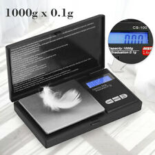 Mini Digital Scale 1000g/0.1g Jewelry Pocket Gold Silver Coin Precise Measuring