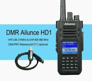 Water Resistant Digital Ham Radio With Screen And Buttons Dual Band Optional GPS