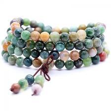 108 Beads Prayer Bangle Tibetan Buddhist Bracelet Mala Agate