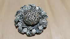 Ladies Stone Set Refurbished Floral Design Brooch