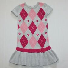 Gymboree Smart And Sweet Flower Argyle Sweater Dress 4