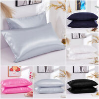 Pure Mulberry Satin Silk Pillowcase Luxurious Soft Sofa Bedding Accessories Real