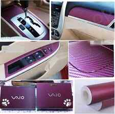 3D Car Accessories/phoneInterior Panel purple Carbon Fiber Vinyl Wrap Sticker