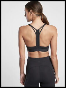 Athleta NWT Women's Ultimate Racer Bra A-C Size Med Color Black