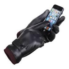 Wasserdicht Leder Handschuhe Winterhandschuhe Herren Security NUTZUNG MIT HANDY
