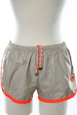 Robinson Les Bains Beige Orange Cambridge Swim Shorts Size Small New 40555