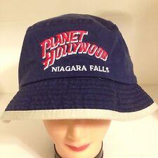Bucket Hat Planet Hollywood Niagara Falls Adult Large Sun Protection Navy Blue