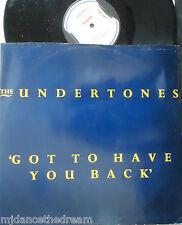 """THE UNDERTONES ~ Got To Have You Back ~ 12"""" Single PS"""