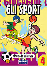 Gli sport. album da colorare - Fabbri - Libro nuovo in offerta!