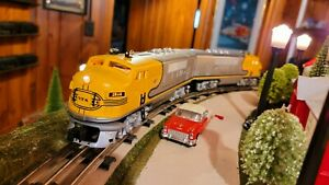 "Williams O Scale Santa Fe F3 AA ""Yellow bonnet"" loco set Lionel MTH K Line Atlas"