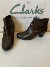 Clarks Smart Brown Leather Boots Size UK 7 EU 41