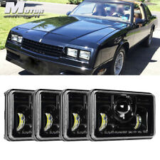 """4x6"""" LED Headlights Headlamp DRL Projector Crystal For Chevrolet Monte Carlo"""