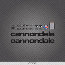 0506 Black Cannondale M500 Bicycle Stickers - Decals - Transfers