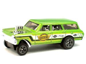 Hot Wheels Chevy '64 Nova Wagon Gasser Kid Model Diecast Toy Car Muscle Mania
