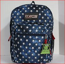 """Jansport SuperMax 15"""" LAPTOP / Tablet Backpack X-LARGE 2200 cu BLUE STARS *NEW*"""