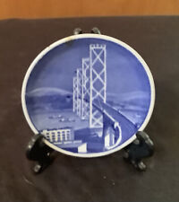 Royal Copenhagen 3 1/4� Golden Gate Bridge Decorative Collector Plate