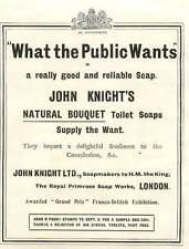 1909 Soap Makers To The King Royal Primrose Soap Works John Knight Ad