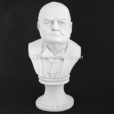 Sir Winston Churchill-Grande marmo di Carrara busto realizzato nel Regno Unito