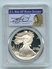 1987 S $1 Proof American Silver Eagle 1oz PCGS PR69DCAM Thomas Cleveland Native
