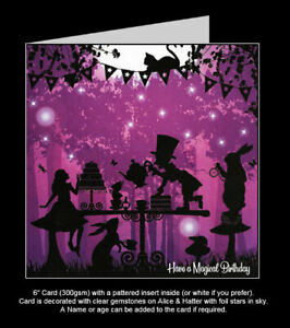 Once Upon a Twilight  'Alice In Wonderland, Mad Hatters Tea Party' Birthday Card