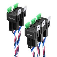 5 Pack Relay Harness with Sockets Wires SPST Fresh Relay 30/40A 12V 4 Pin FUSE