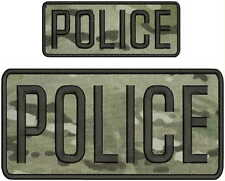 POLICE embroidery patch  4x8 and 2x5 hook MULTICAM