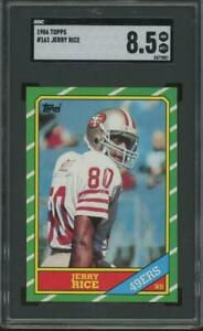 1986 Topps #161 Jerry Rice RC Rookie SGC 8.5